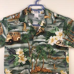 Ky's Shirts & Tops - Hawaiian shirt by Ky's size medium boys green